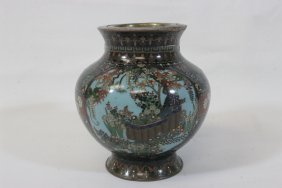 Japanese 19th C. Cloisonne Incense, Signed