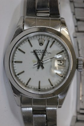Lady's Ss Rolex Oyster Perpetual Wrist Watch