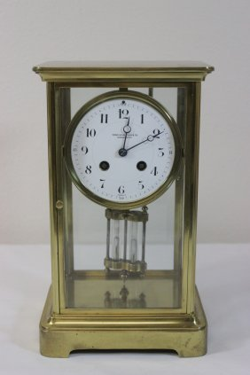 French Brass Cased Table Clock