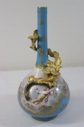 Antique French Serve's Porcelain Vase