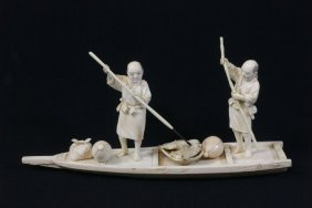 Japanese 19th C. Tokyo School Ivory Carving