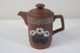 Chinese Yixing Clay Partial Glazed Teapot