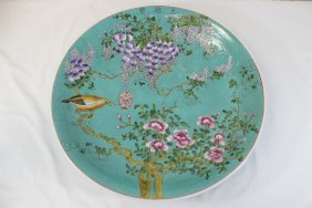 Large Chinese Famille Rose Porcelain Plate