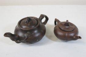 2 Yixing Clay Teapots