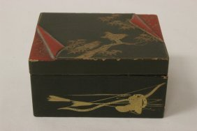 Small Japanese 19th C. Rectangular Lacquer Box