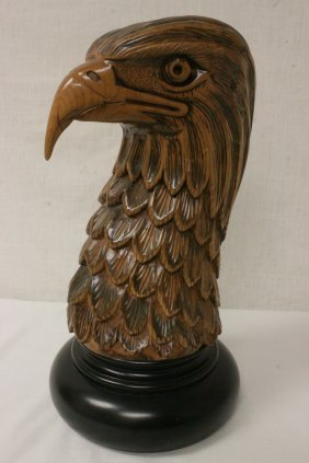 A Beautiful Wood Carved Eagle