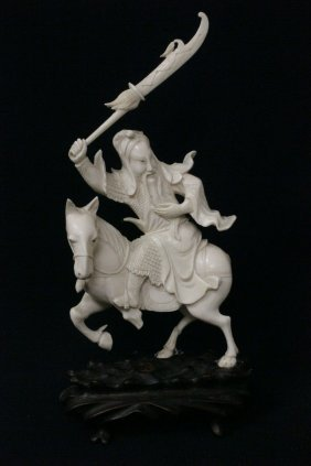 A Chinese Finely Carved Ivory