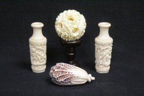 4 Misc. Ivory Pieces
