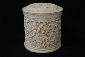 Chinese Antique Ivory Carved Box