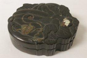 Chinese Antique Zitan Box W/mop & Jade Inlaid