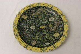 Large Chinese Famille Rose Porcelain Platter