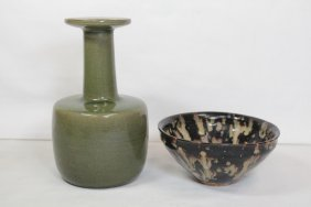 Song Style Bowl And Song Style Celadon Vase