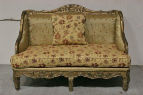 Italian 19th/20th C. Gilt Wood Daybed