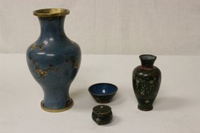 4 Cloisonne Items