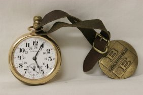 Hamilton 21-jewels Pocket Watch W/ Fob