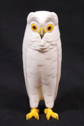 Chinese Ivory Carved Owl