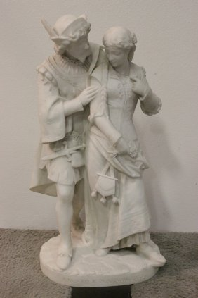 Italian Marble Sculpture, Signed Gall. Lapini Firenze