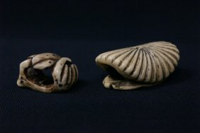 2 Antique Japanese Ivory Carved Netsuke