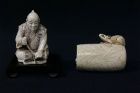 2 Ivory Carved Netsuke