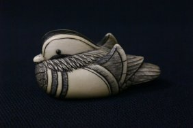 Early 20th C. Japanese Ivory Carved Netsuke