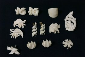 Chinese Ivory Jewelry Lot