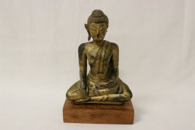 A Gilt Wood Antique Thai Buddha