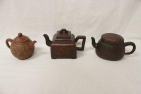 3 Yixing Clay Teapot