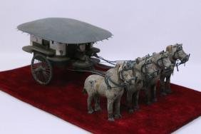 Chinese Bronze Sculpture Of Chariot