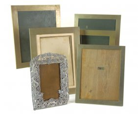 Six Chinese Photo Frames, One Intricately Worked I