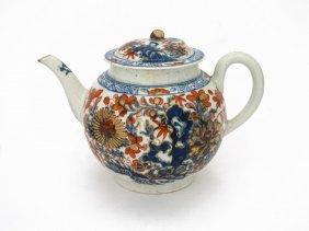 A Worcester Teapot Printed In The €œimari€ Pattern,
