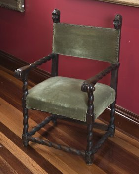 An Unusual 18th Century Oak Armchair