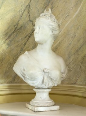 A Victorian Marble Bust Of The Goddess, Venus