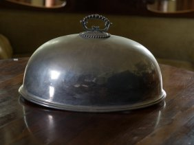 A Victorian Silver Plated Domed Meat Cover