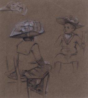 Samuel Melton Fisher Study Of A Little Girl