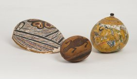 A Painted Shell In Indigenous Australian Design, A