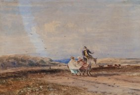 David Cox A Breezy Meeting By The Sea