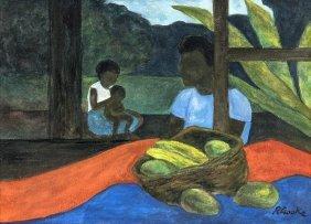 Ray Crooke (1922-2015) Islanders And Fruit