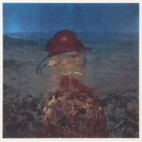 Sidney Nolan (1917-1992) Miner In Red Helmut