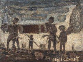 Eric Stewart (1903-1972) Aboriginal Hunters