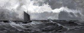 John Mather (1848-1916) Stormy Seas 1887