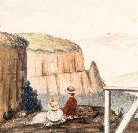 Emma Minnie Boyd (1858-1936) On The Cliff Top