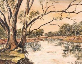 Jean Philp (active 20th Century) River Scene 1972