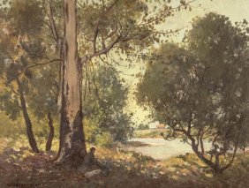 William Lister Lister (1859-1943) By The Stream