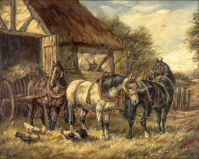 After John Frederick Herring Carting Hay