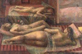 John Montefiore (born 1936) Three Nudes 1959