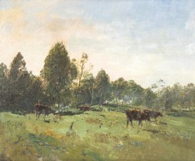 Lance Solomon (1913-1989) Green Pastures 1946