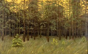 Henrik Poul Jensen (russian, 1905-1990) Forest