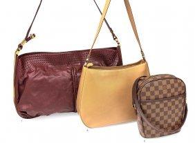 A Camel Toned Calf Leather Shoulder Bag, Salvatore