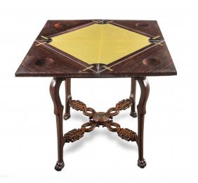 A Fine Quality Rosewood And Gilt Bronze Mounted Square