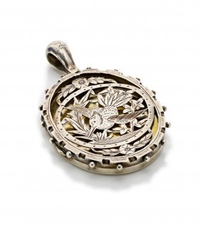 A Victorian Sterling Silver Locket, The Oval Locket